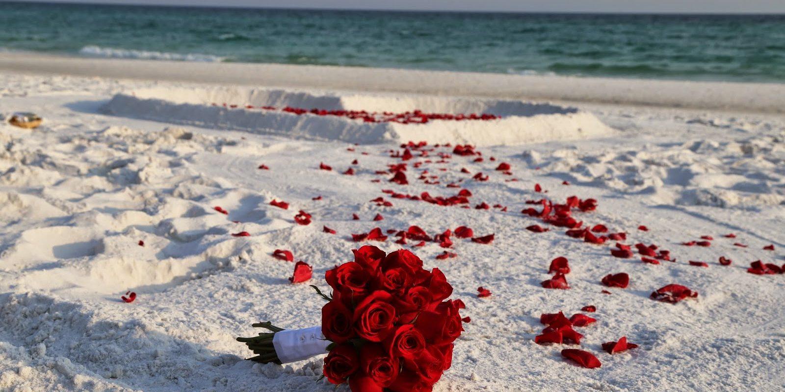 картинка роза сердце и песок кирпичные, есть